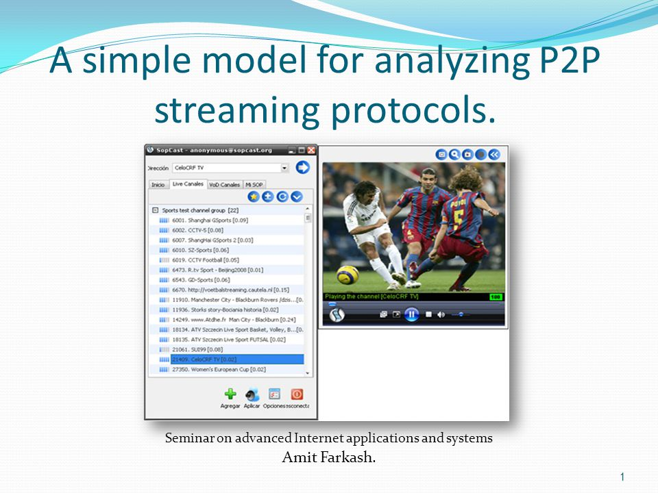 The problem: The engineering of streaming video from a server to a single client is well studied and understood.