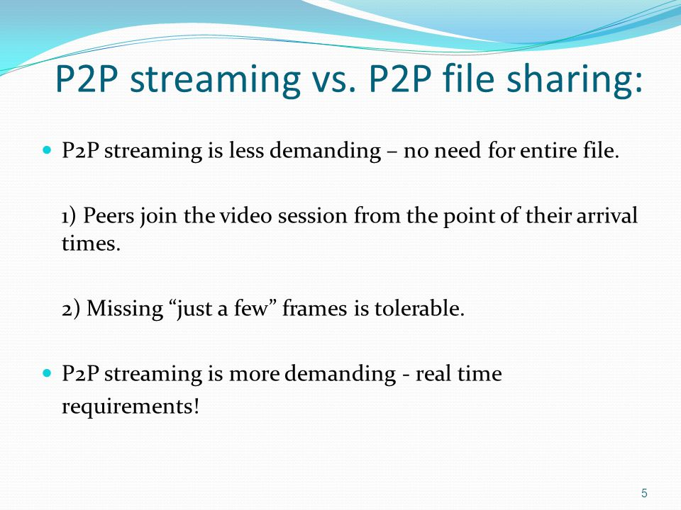 Performance metrics: We will compare downloading strategies based on two performance metrics: Continuity – probability of continues playback.