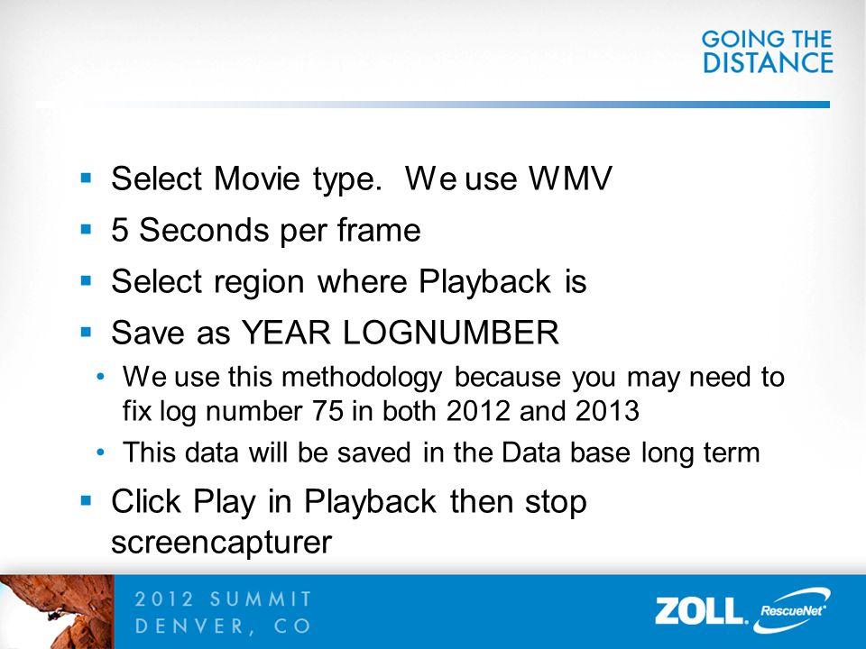  Select Movie type.