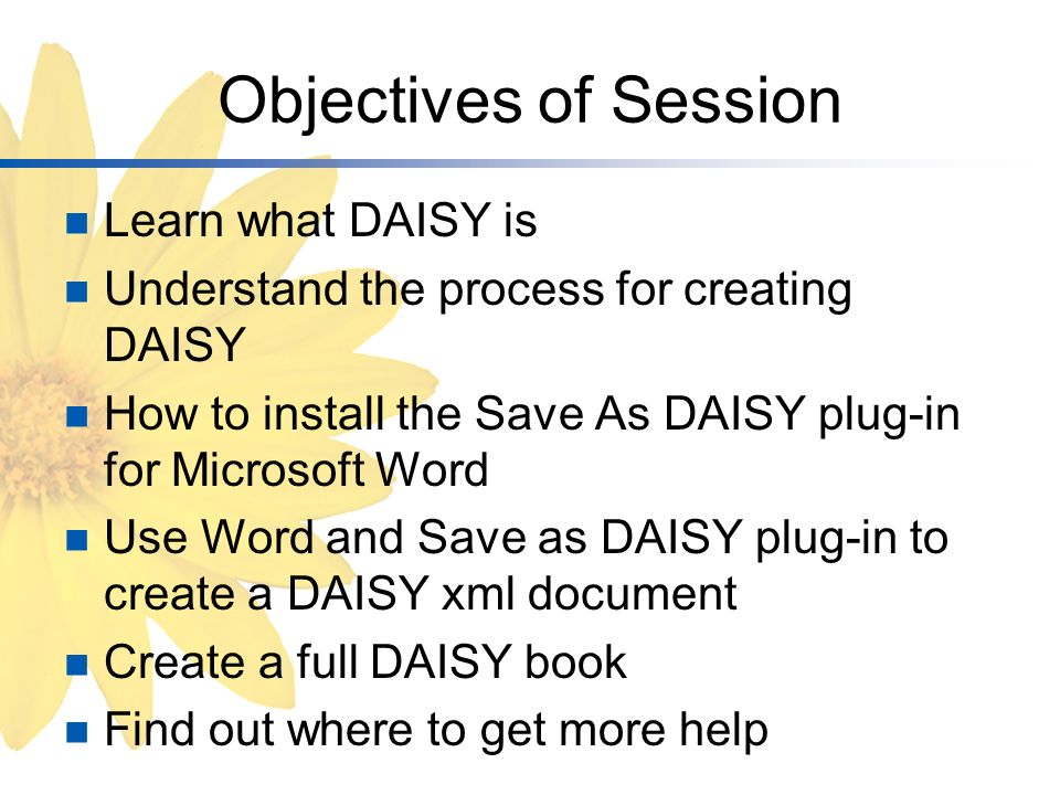 What is DAISY.