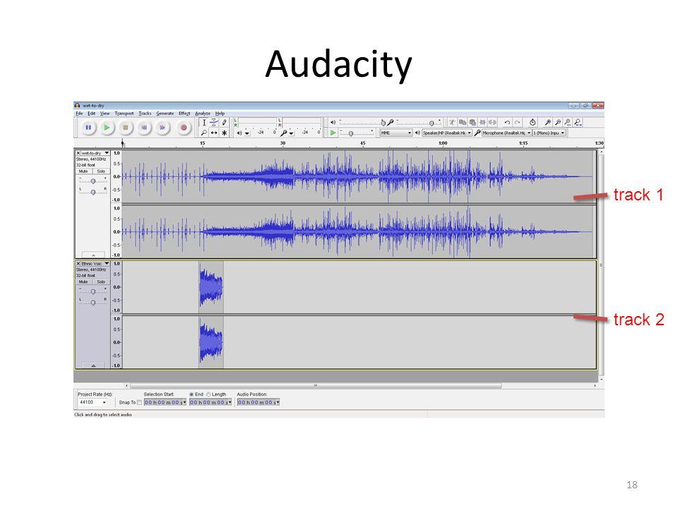 Audacity 18 track 1 track 2