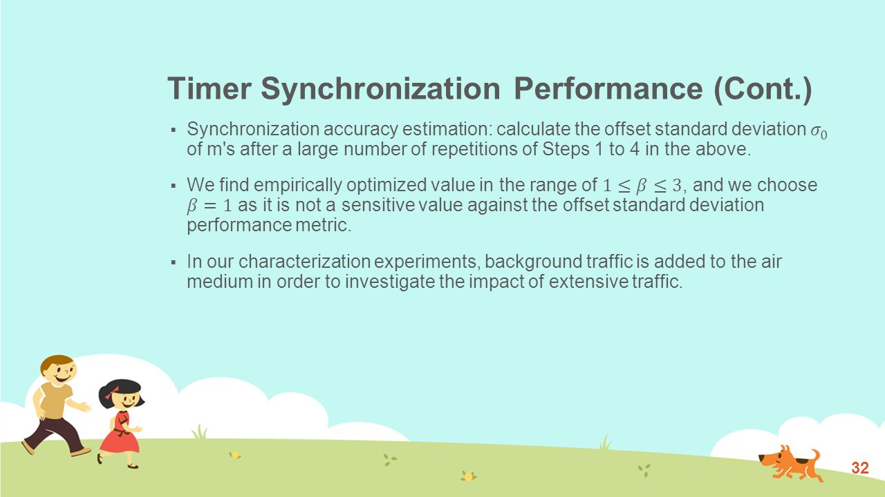 Timer Synchronization Performance (Cont.) 33