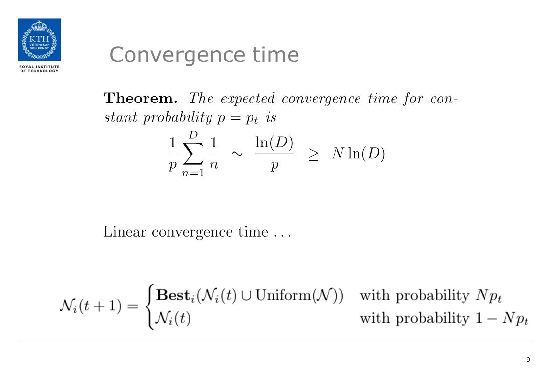 Convergence time 9