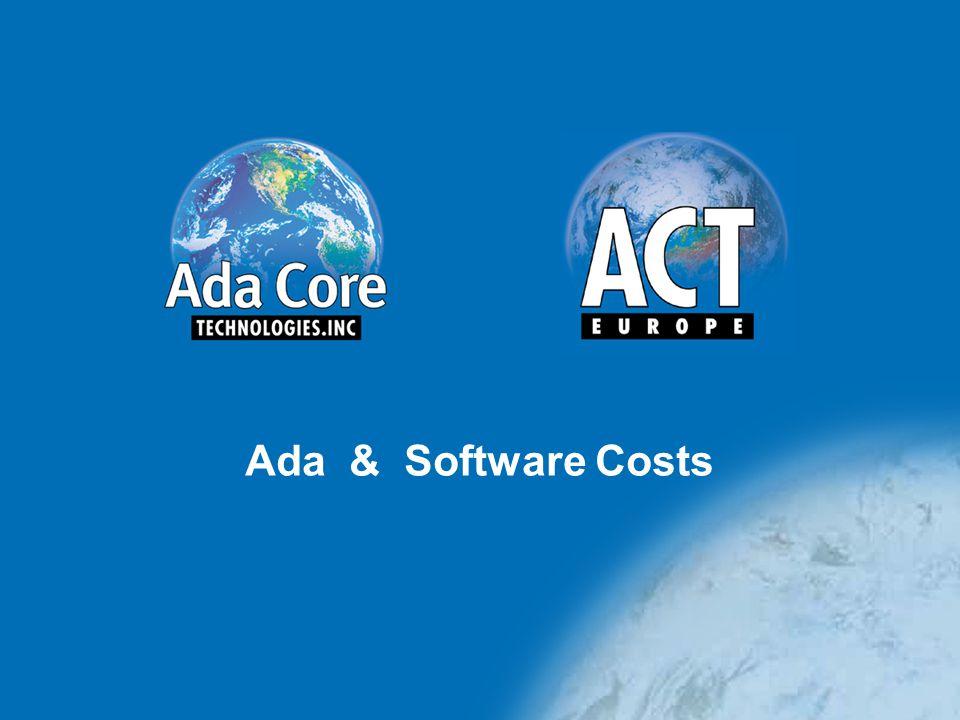 Ada & Software Costs
