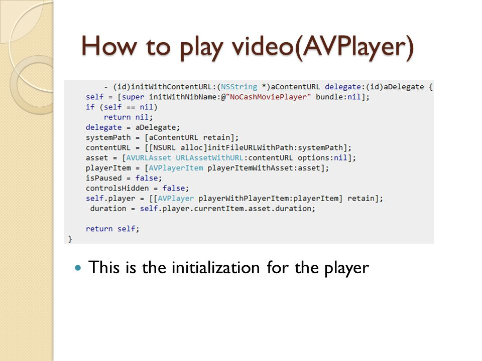 How to play video(AVPlayer) This is the code that plays the video