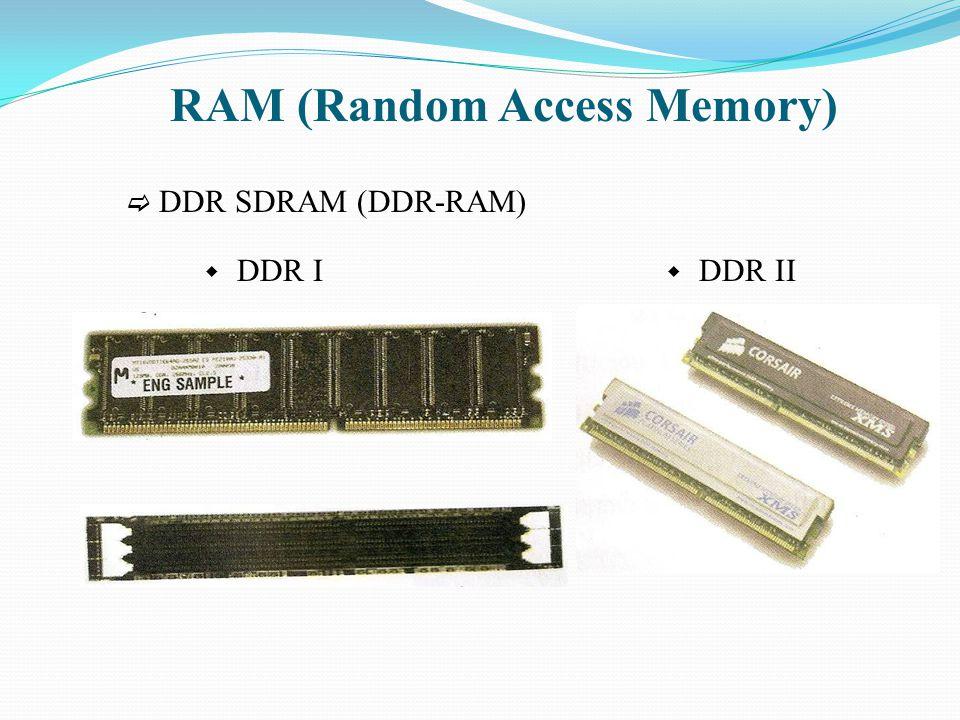 RAM (Random Access Memory)  RD-RAM