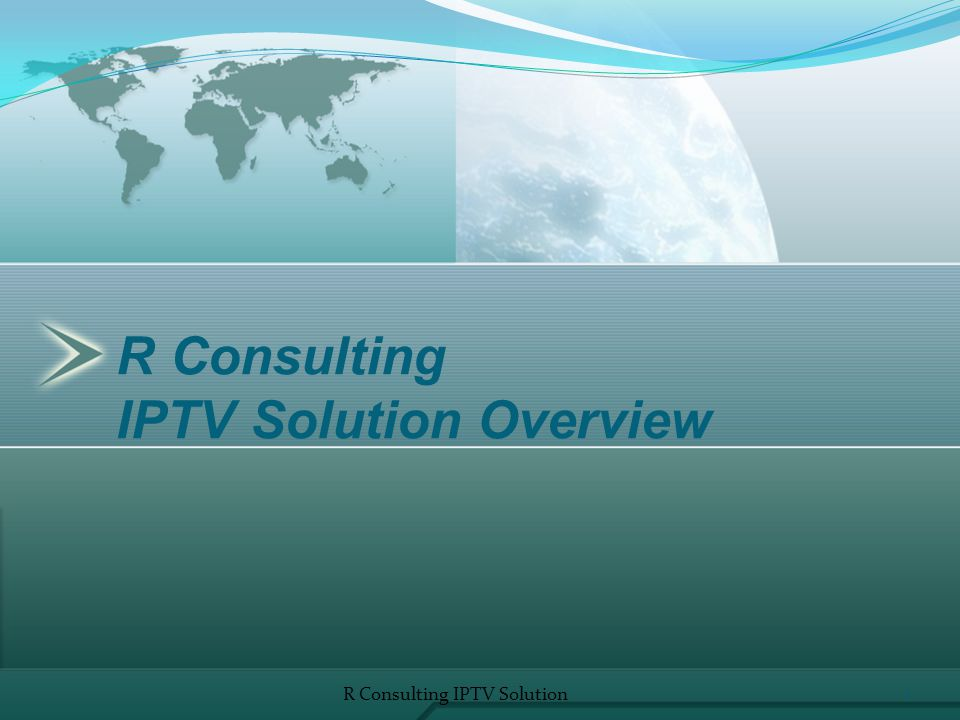 IPTV Functionalities Information services /weather forecast, lottery results, horoscope, etc./; Radio stations R Consulting IPTV Solution12