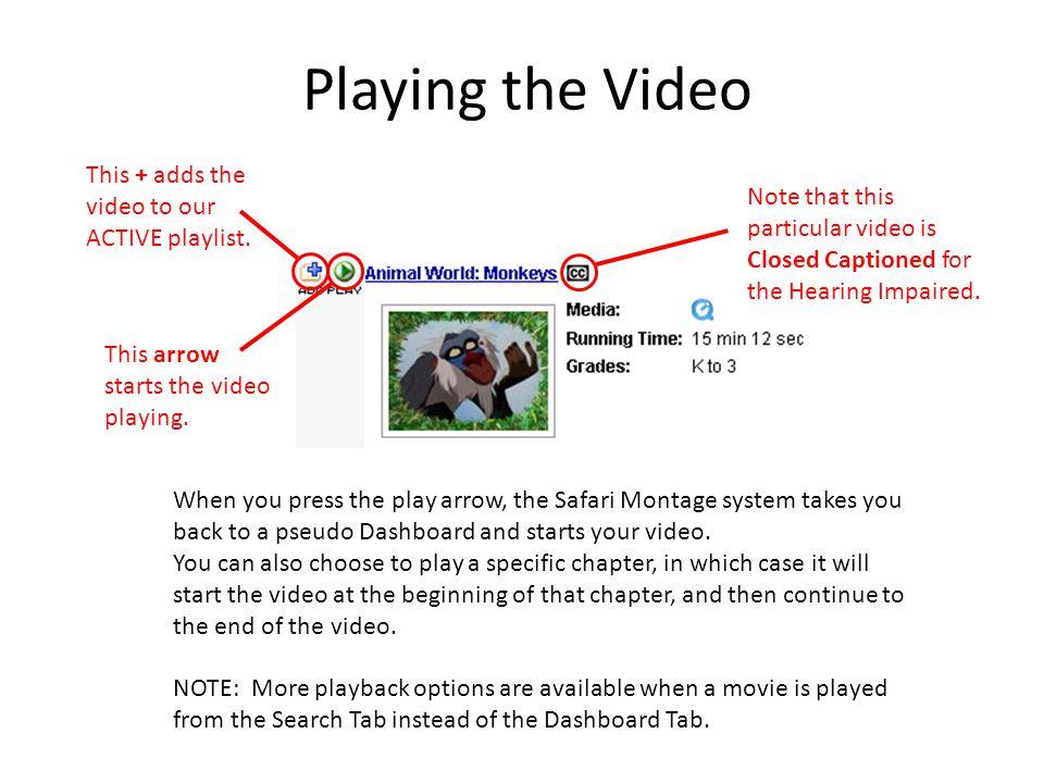 How Do I Control My Video. Control. Control.