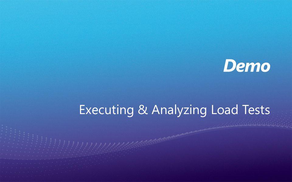 Executing & Analyzing Load Tests