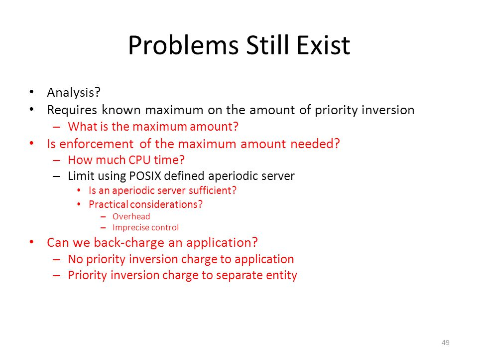 Problems Still Exist Analysis.
