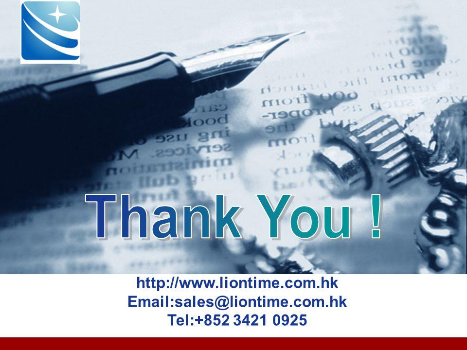Company LOGO http://www.liontime.com.hk Email:sales@liontime.com.hk Tel:+852 3421 0925