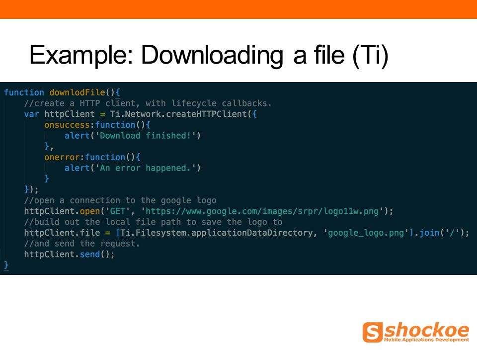 Example: Downloading a file (Ti)