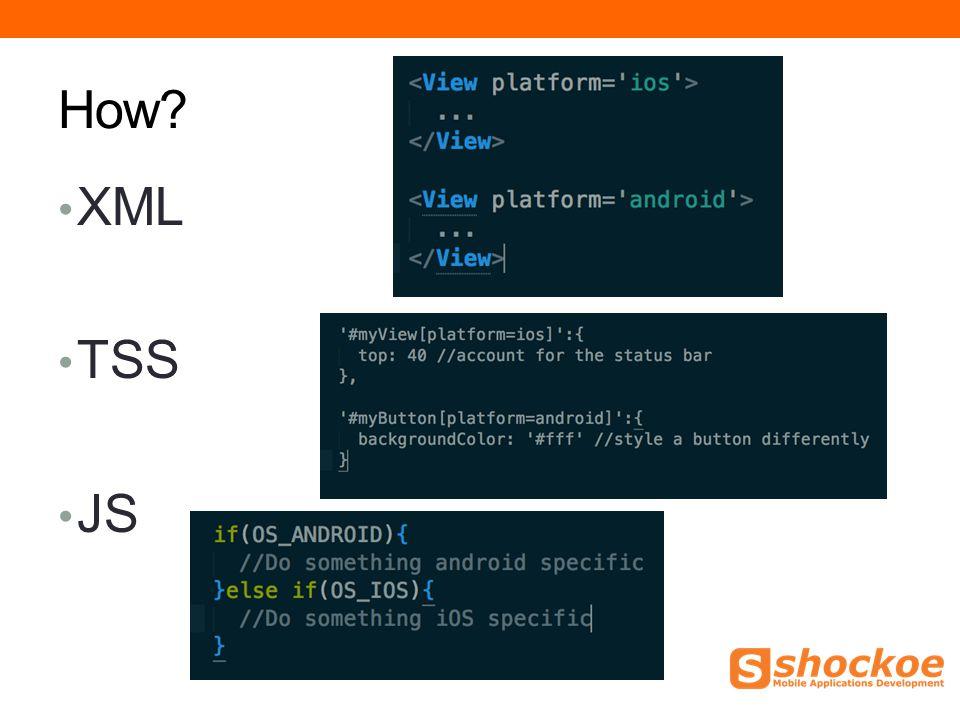 How XML TSS JS
