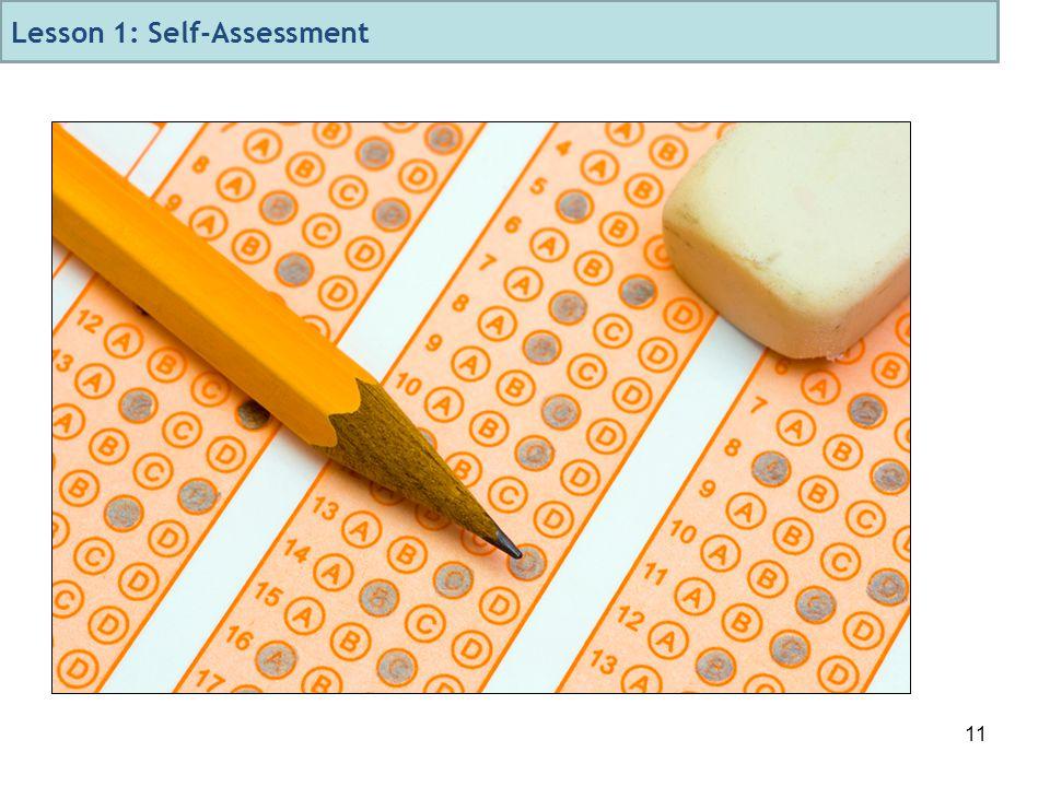 11 Lesson 1: Self-Assessment