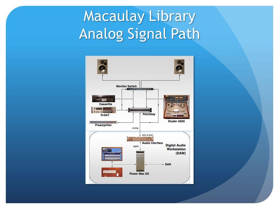 Macaulay Library Analog Signal Path