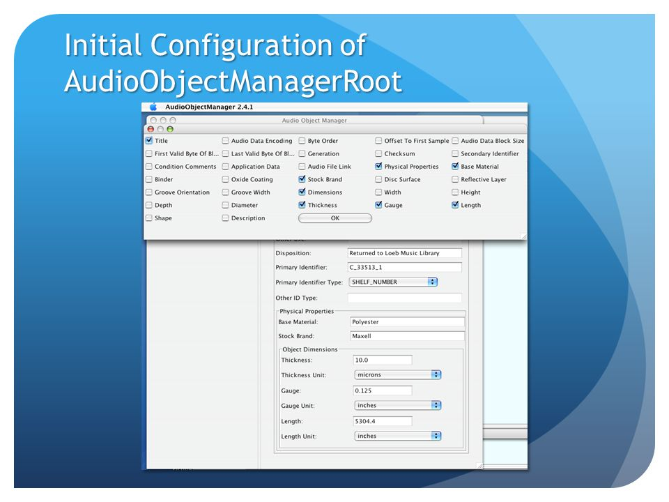 Initial Configuration of AudioObjectManagerRoot