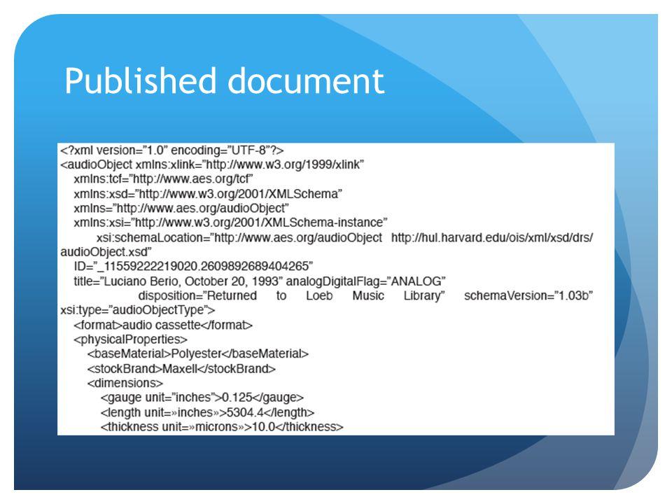 Published document