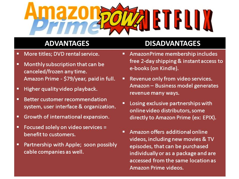 KP Key Partners  Apple  RADius-TWC  Twentieth Century Fox  Hasbro Studios  Warner Bros  Stakeholders, such as Carl Icahn, & their affiliates KA Key Activities  DVD Rent-by-Mail Service  Online Video Streaming Service VP Value Proposition  DVD Rent-by-Mail Service – Cost so low not worth competing  Extensive customer database, 10+ years deep.