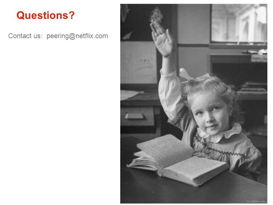 Questions? Contact us: peering@netflix.com