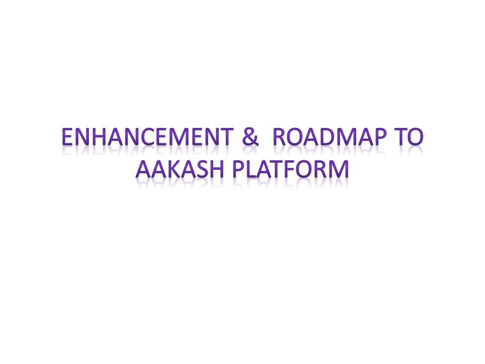 Improve Aakash II Tablet with respect to: – Higher usability, upgradability – Power consumption – Cost – Ruggedness – Quality – Manufacturability, Serviceability, Maintainability – Standards compliances – Enhanced Android OS and Linux OS Generate report for recommended enhancements