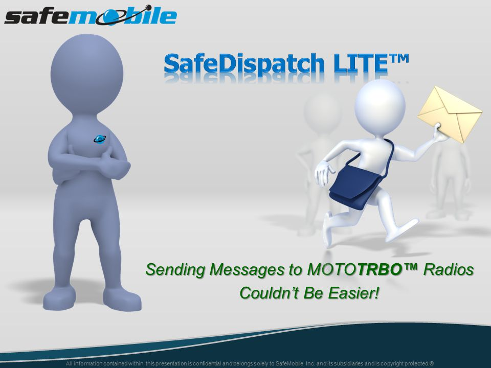 Sending Messages to MOTOTRBO™ Radios Couldn't Be Easier.