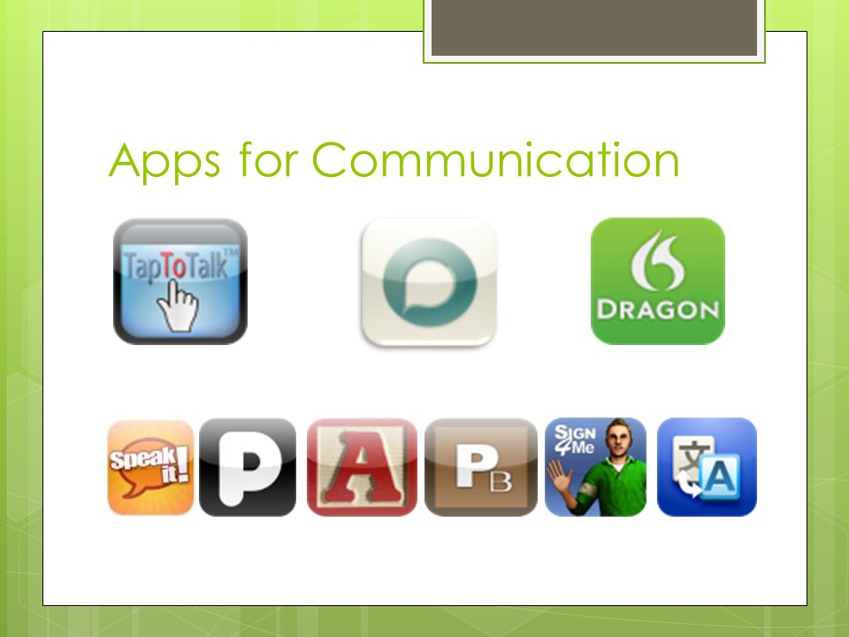Apps for Communication