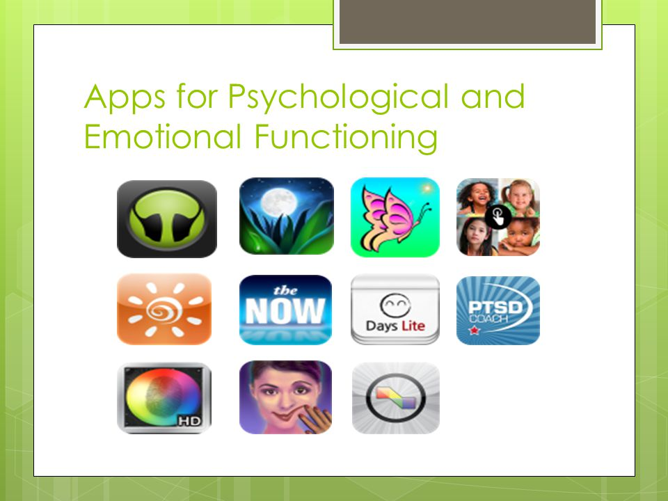 Apps for Psychological and Emotional Functioning