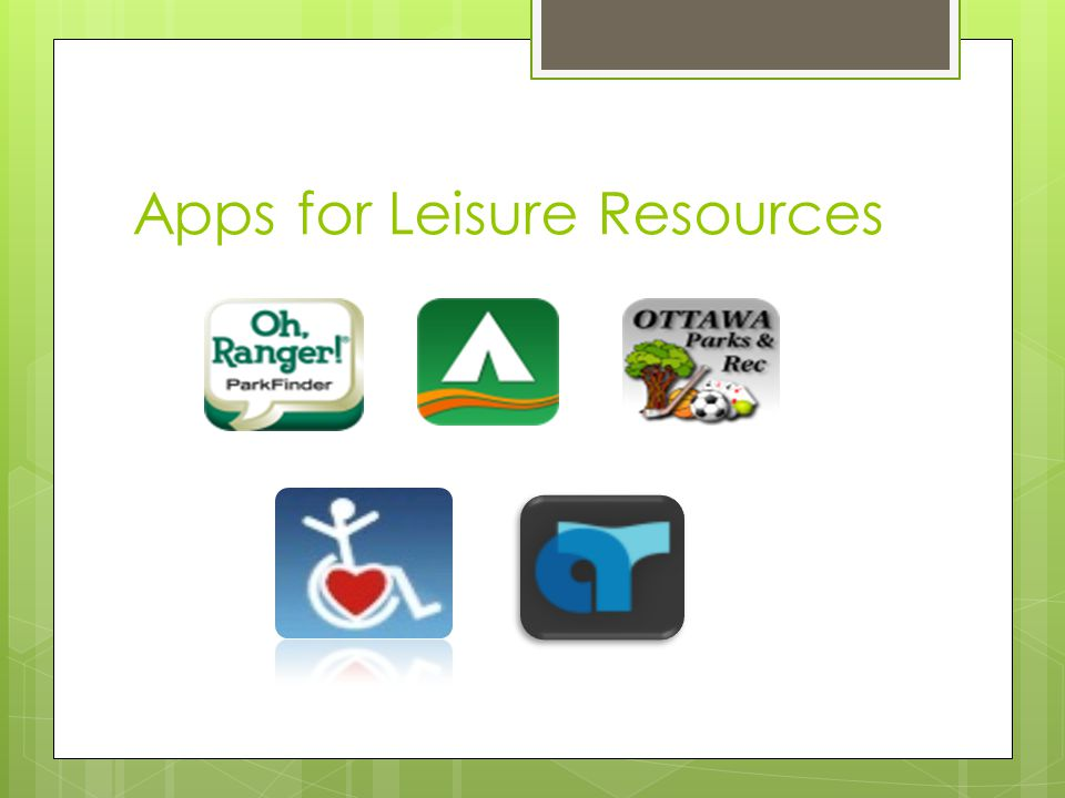 Apps for Leisure Resources