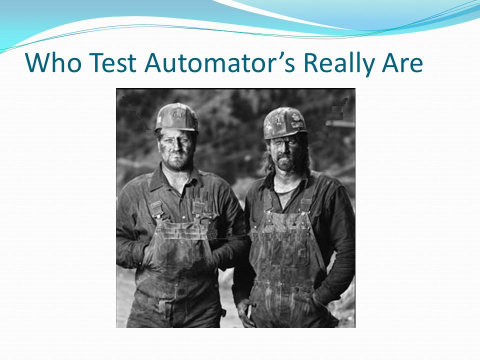 Who Test Automator's Really Are