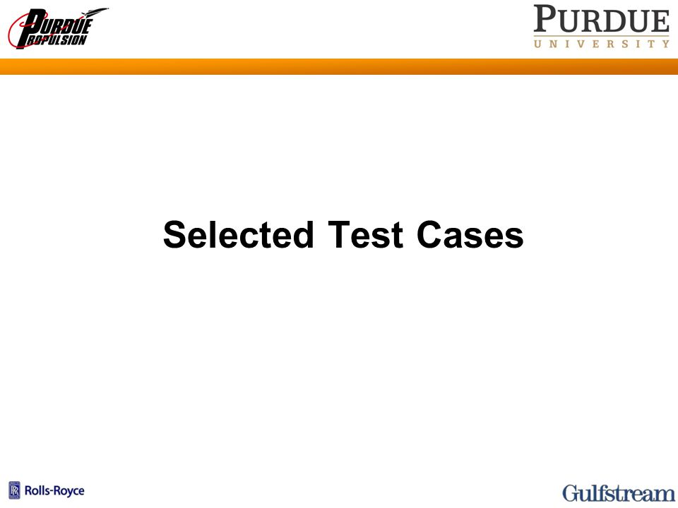 Selected Test Cases