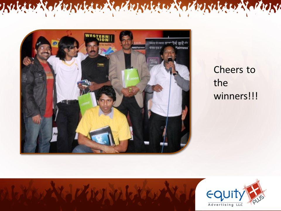 Cheers to the winners!!!