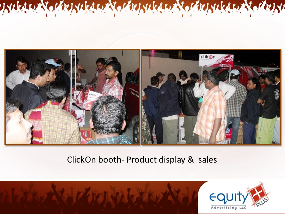 ClickOn booth- Product display & sales