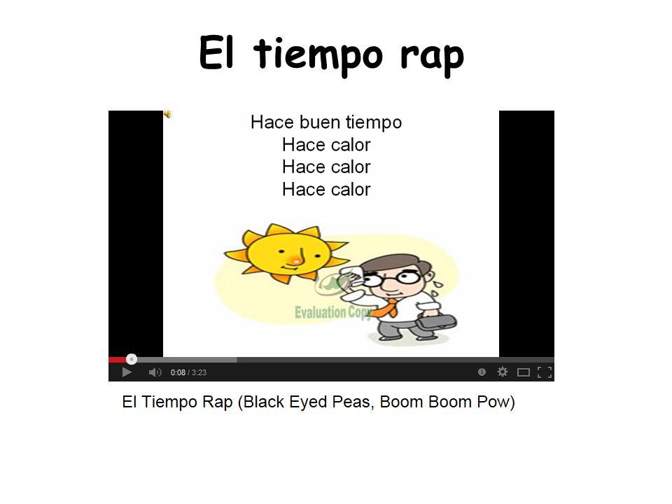 ¿ Qué tiempo hace. Spanish weather rap.