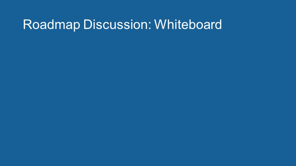 Roadmap Discussion: Whiteboard