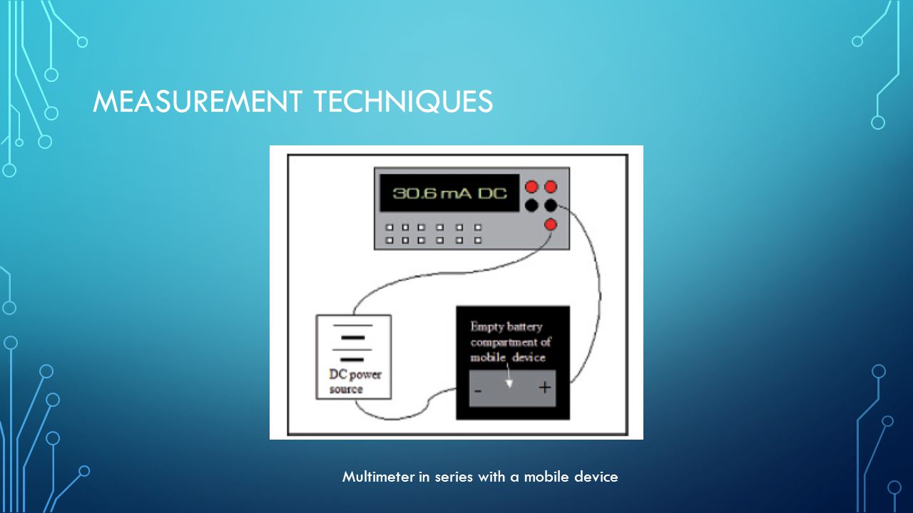 MEASUREMENT TECHNIQUES Multimeter in series with a mobile device