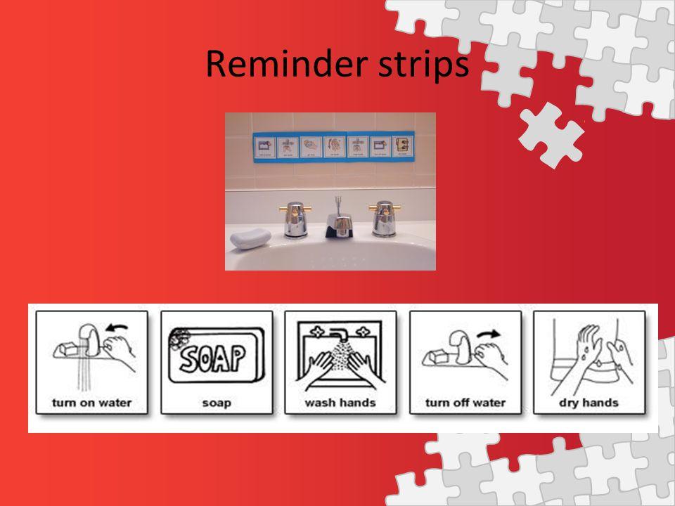 Reminder strips