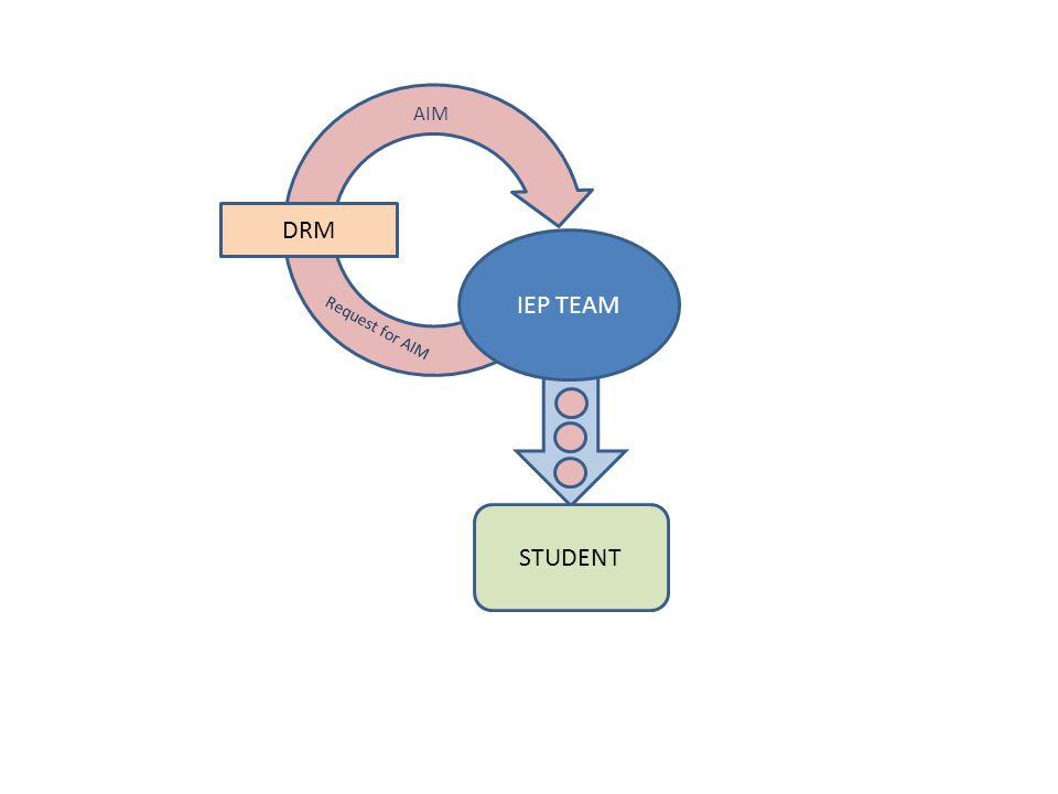 IEP TEAM STUDENT DRM Request for AIM AIM