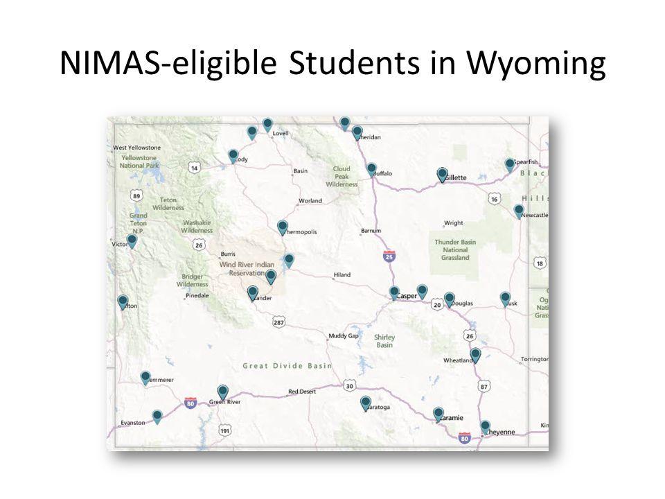 NIMAS-eligible Students in Wyoming