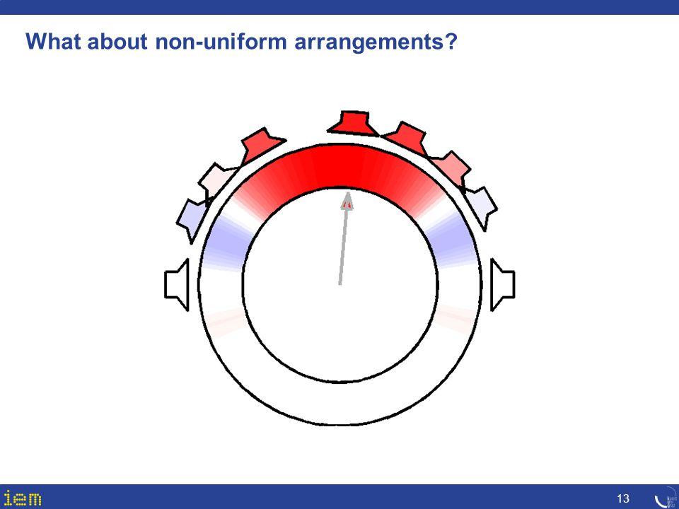 What about non-uniform arrangements? 13