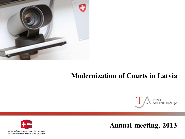 Court Modernization in Latvia Annual meeting, 2013 Modernization of Courts in Latvia
