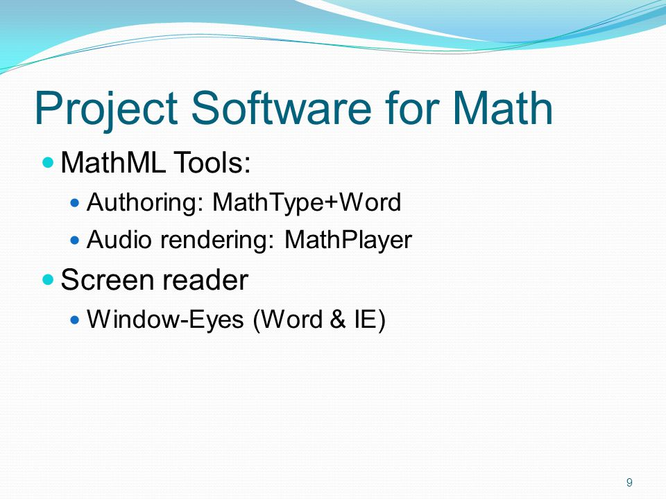 Behind the Scene: MathML (What is MathML?) 8 x 3