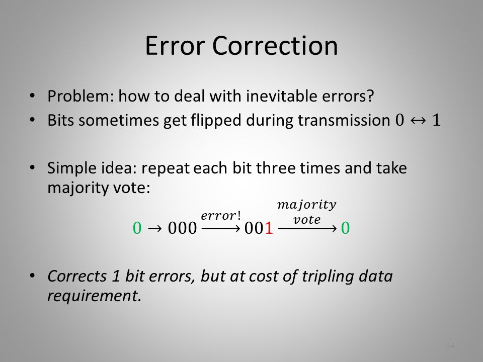 Error Correction 54