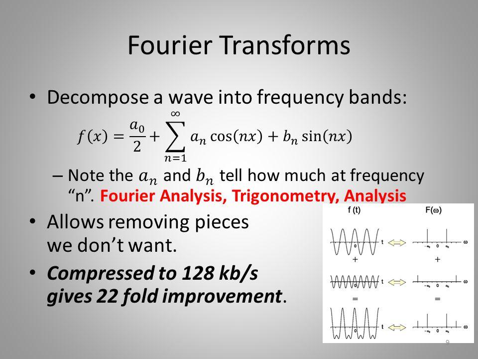Fourier Transforms 9
