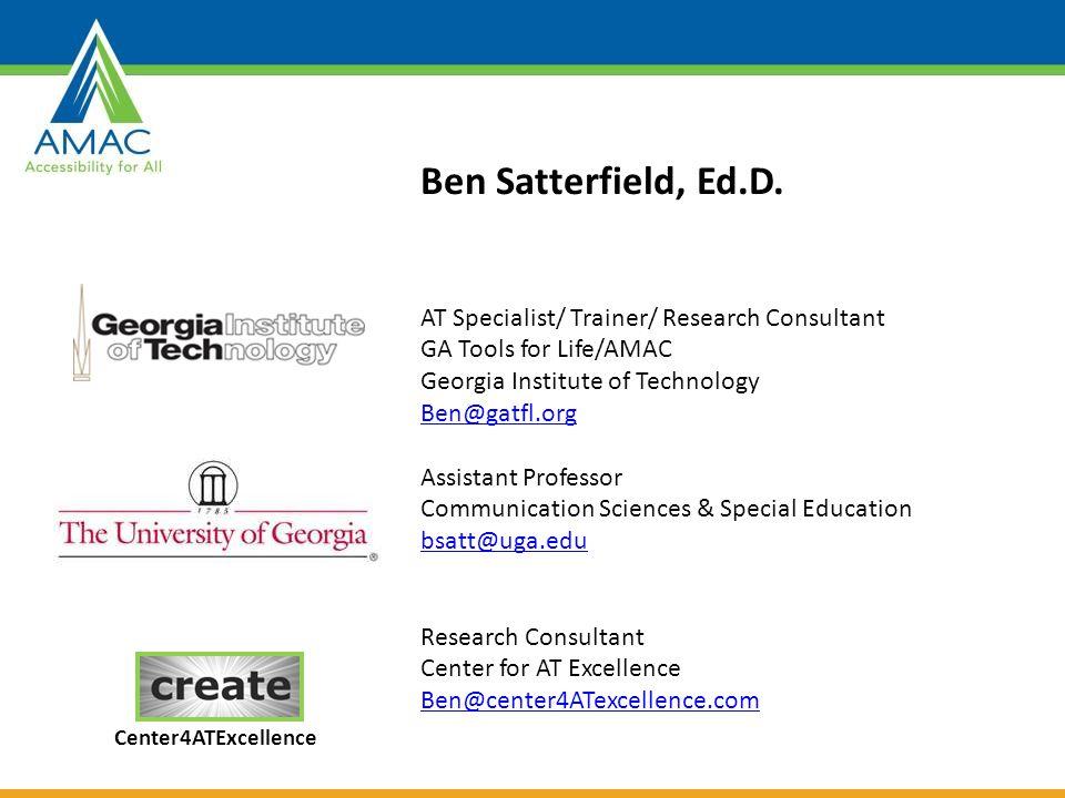 Ben Satterfield, Ed.D.