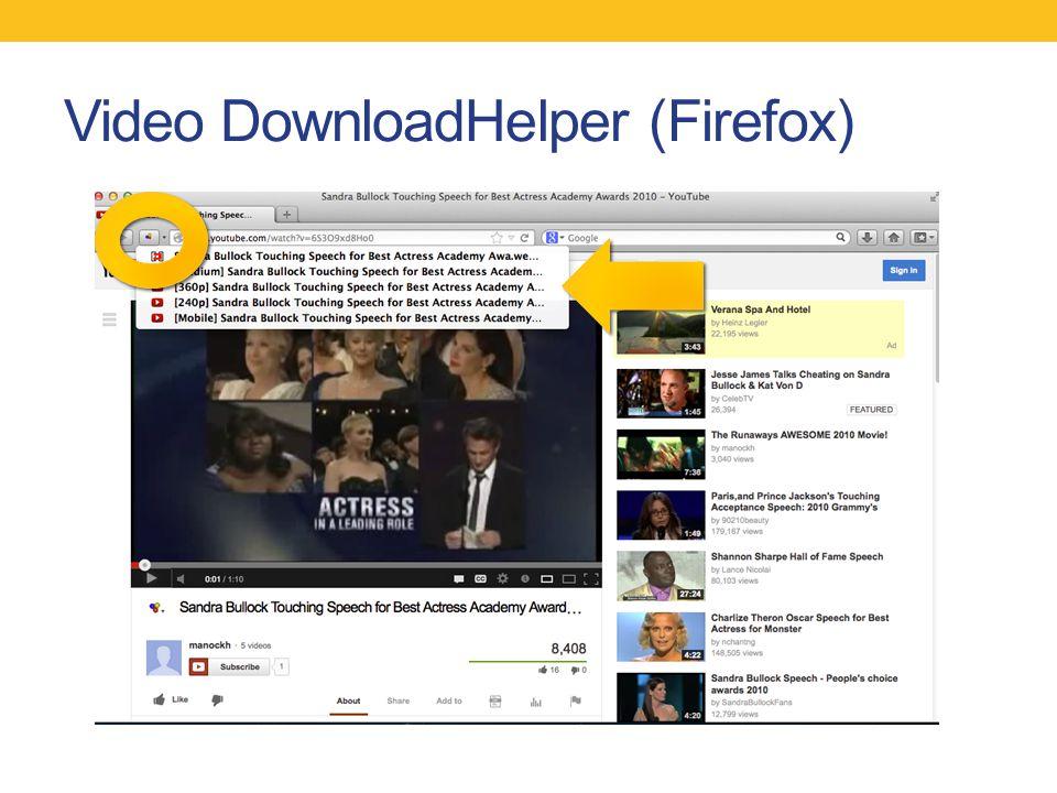 Video DownloadHelper (Firefox)