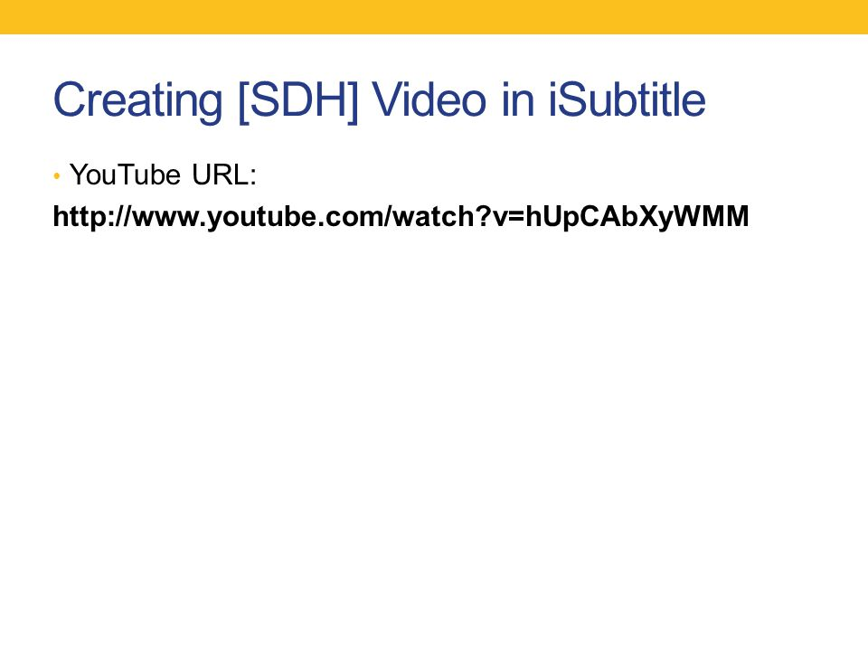 Creating [SDH] Video in iSubtitle YouTube URL: http://www.youtube.com/watch?v=hUpCAbXyWMM