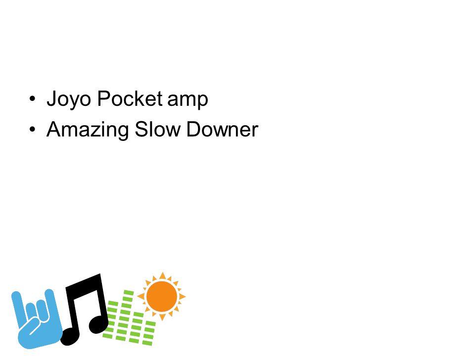Joyo Pocket amp Amazing Slow Downer