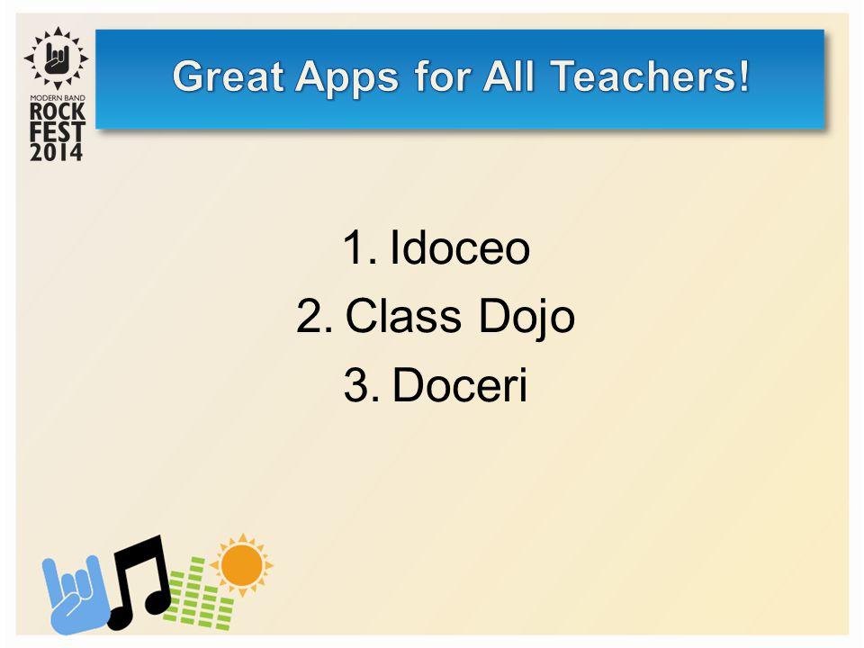 1.Idoceo 2.Class Dojo 3.Doceri