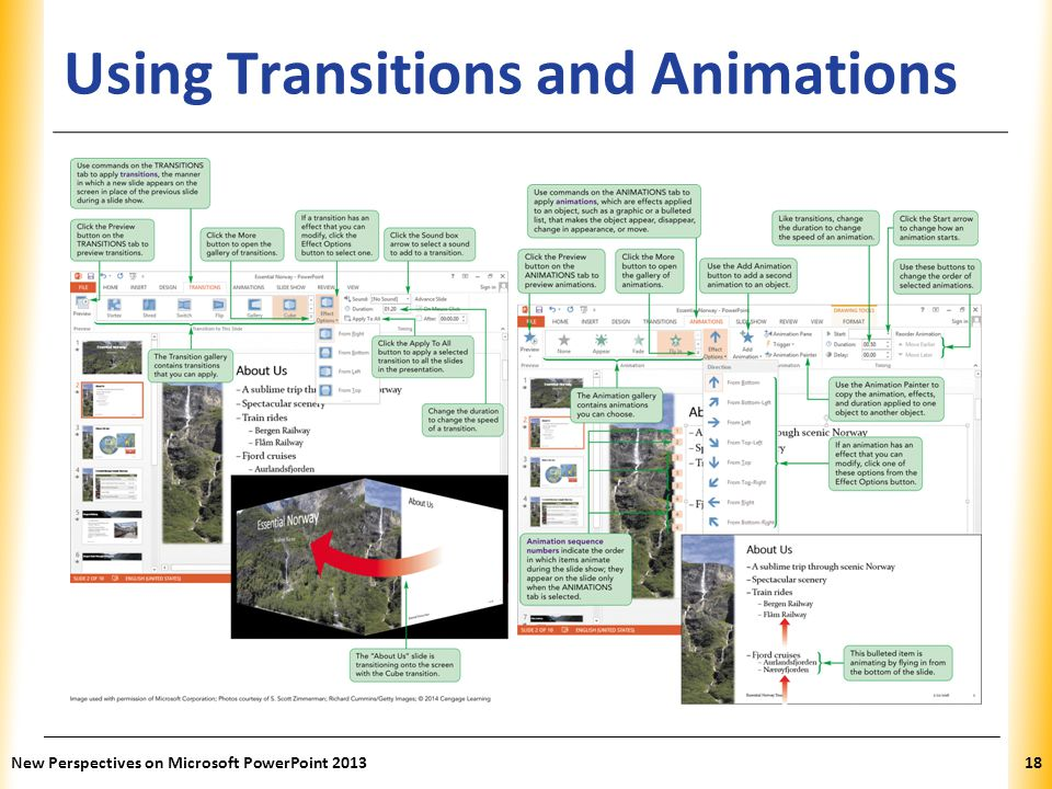 XP Using Transitions and Animations New Perspectives on Microsoft PowerPoint 201318