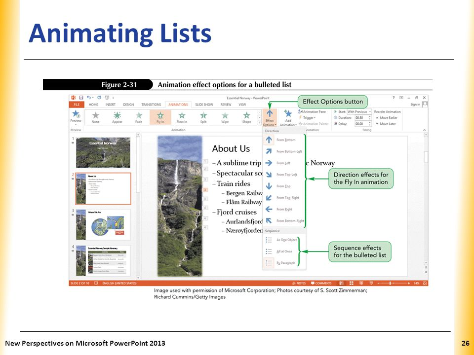XP Animating Lists New Perspectives on Microsoft PowerPoint 201326